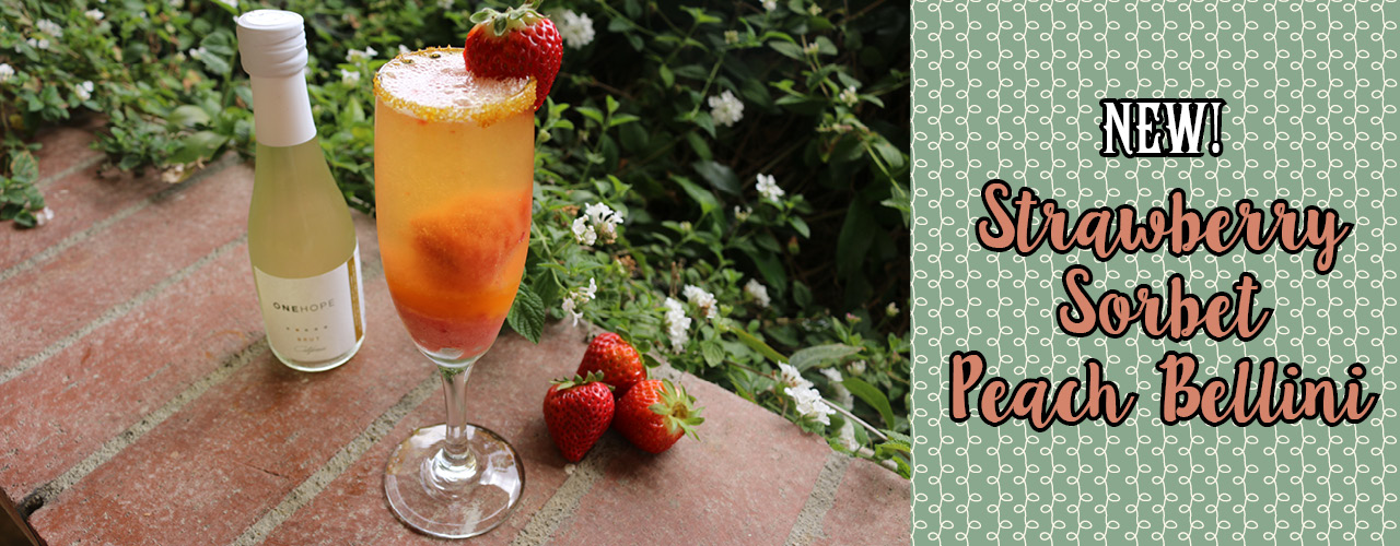 New Strawberry Sorbet Peach Bellini