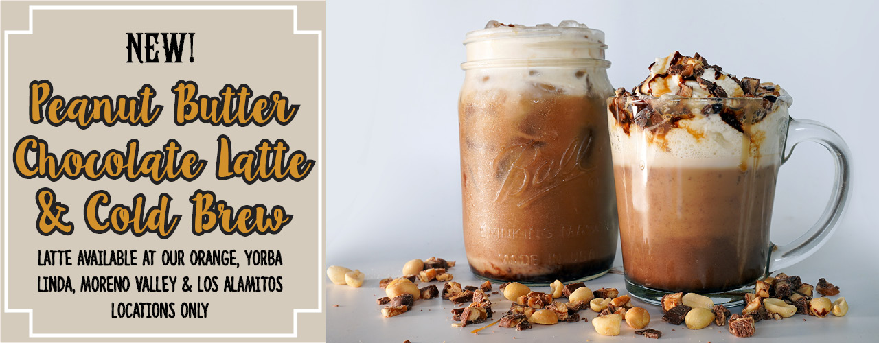 New Peanut Butter Chocolate Latte & Cold Brew