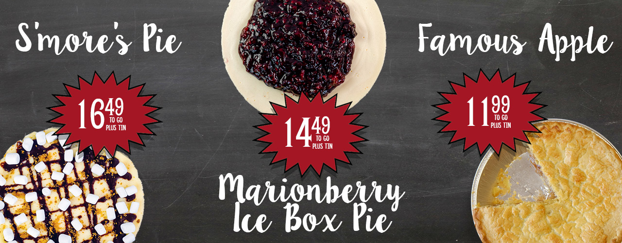 Summer Pies: S'more's Pie, Marionberry Ice Box Pie, Famous Apple