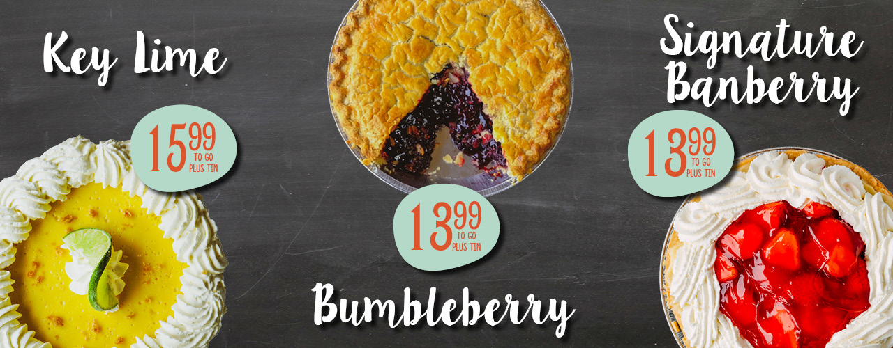 Key Lime, Bumbleberry and Signature Banberry Pies