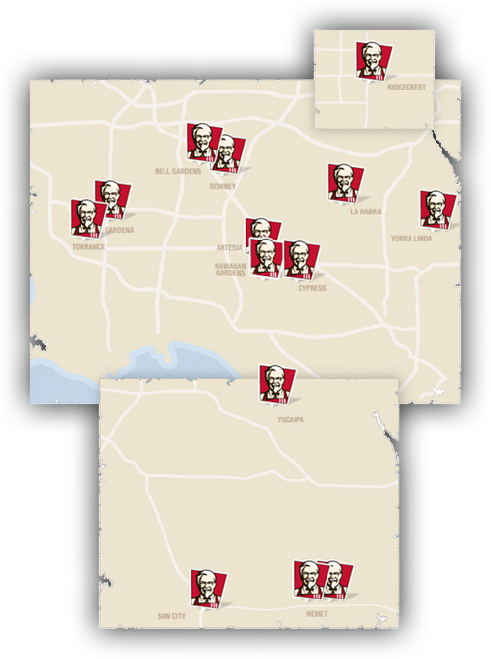 KFC of Polly's Location Map