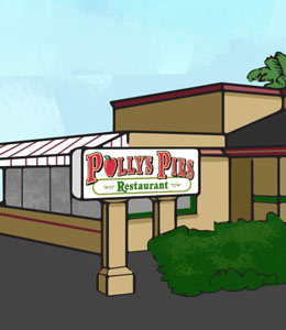 Polly's Pies Orange Exterior