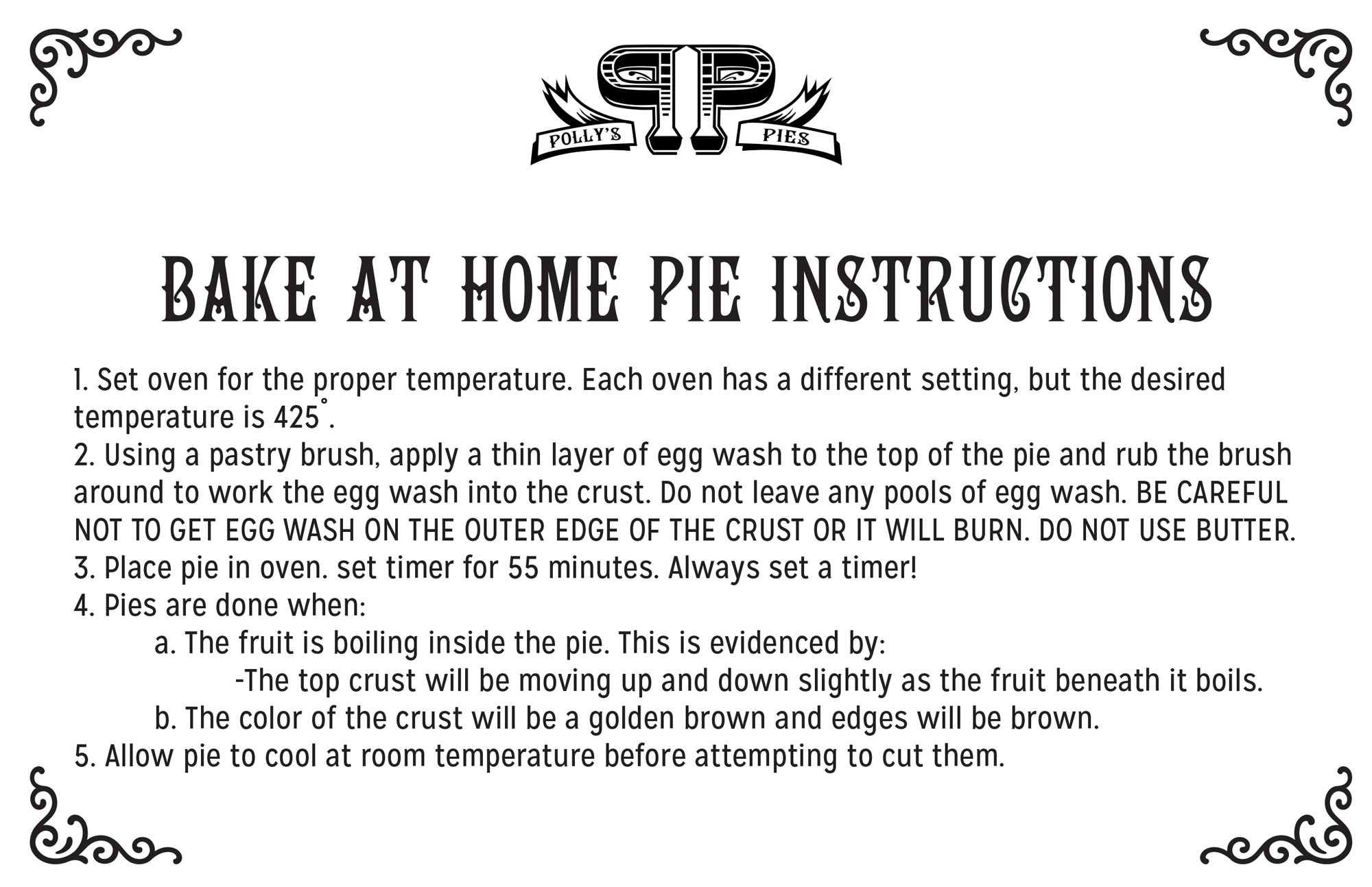 Pie bake at home instructions image